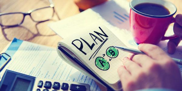 Businessman Notepad Word Plan Concept